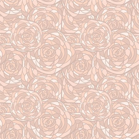 flower clipart paint - vector seamless background with abstract roses in stained glass style Stock Photo - Budget Royalty-Free & Subscription, Code: 400-04408822