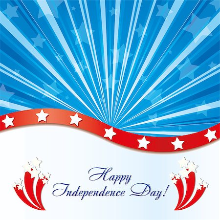 fireworks white background - Background with elements of USA flag with congratulations and fireworks, vector illustration Stock Photo - Budget Royalty-Free & Subscription, Code: 400-04400091