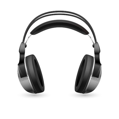 Realistic computer headset. Illustration on white background Stock Photo - Budget Royalty-Free & Subscription, Code: 400-04402939