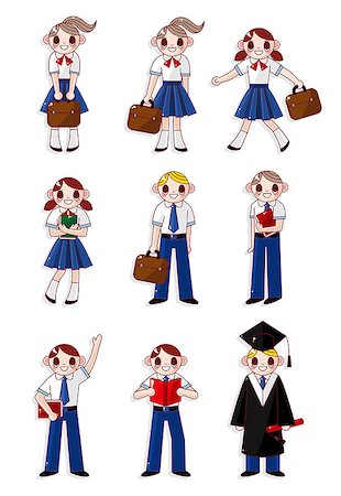 students learning cartoon - cartoon student icon Stock Photo - Budget Royalty-Free & Subscription, Code: 400-04403032
