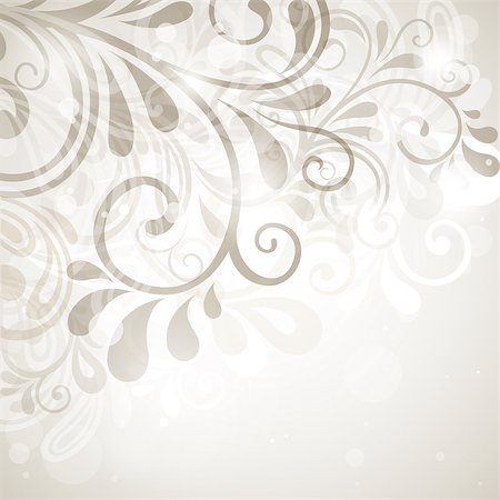 abstract floral background. Vector Illustration Stock Photo - Budget Royalty-Free & Subscription, Code: 400-04403658