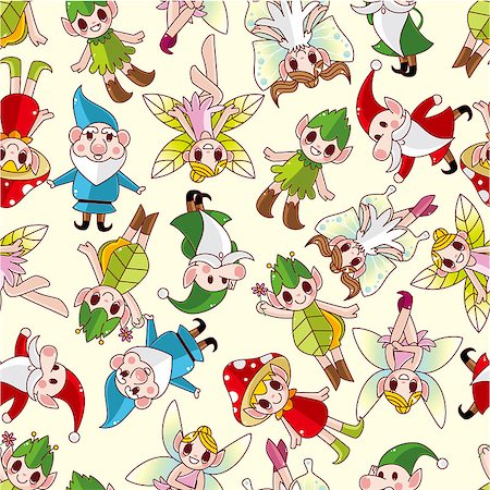seamless elf pattern Stock Photo - Budget Royalty-Free & Subscription, Code: 400-04403871