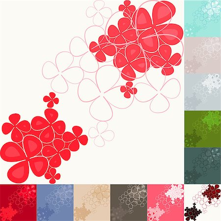 Graphic Background -  illustration. Flowers and Lines Stock Photo - Budget Royalty-Free & Subscription, Code: 400-04415122