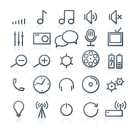 Vector set of original multimedia Icons Stock Photo - Budget Royalty-Free & Subscription, Code: 400-04416426