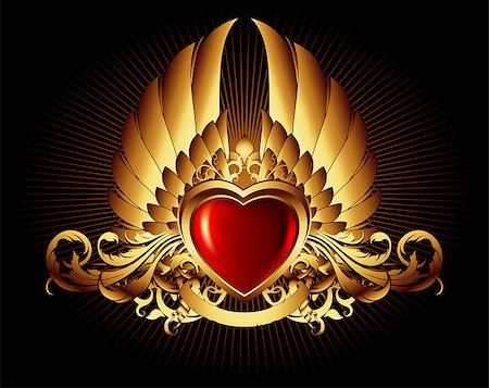 heart frame, this illustration may be useful as designer work Stock Photo - Budget Royalty-Free & Subscription, Code: 400-04417611