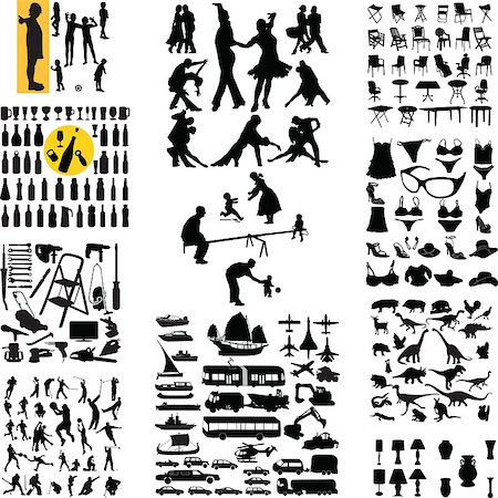 mix silhouette vector Stock Photo - Budget Royalty-Free & Subscription, Code: 400-04418674