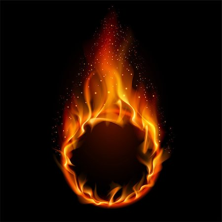 Ring of Fire. Illustration on black background for design Stock Photo - Budget Royalty-Free & Subscription, Code: 400-04418789