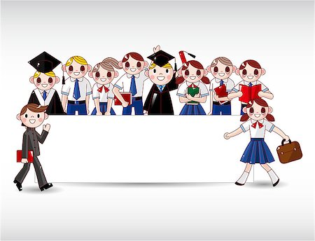 students learning cartoon - cartoon student card Stock Photo - Budget Royalty-Free & Subscription, Code: 400-04418975