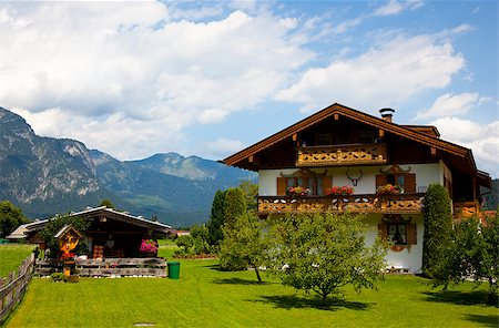 traitional house in the alps Stock Photo - Budget Royalty-Free & Subscription, Code: 400-04419329