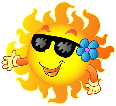 Happy summer Sun 1 - vector illustration. Stock Photo - Budget Royalty-Free & Subscription, Code: 400-04419391