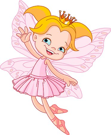 Cute fairy ballerina flying Stock Photo - Budget Royalty-Free & Subscription, Code: 400-04419496
