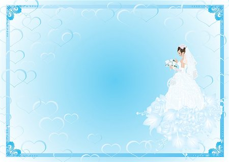 Frame with the bride in her wedding dress and bouquet of flowers is a bouquet of roses Stock Photo - Budget Royalty-Free & Subscription, Code: 400-04419583