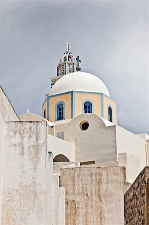 An image of a nice Santorini view with church Stock Photo - Budget Royalty-Free & Subscription, Code: 400-04419779