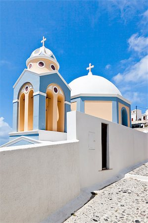 An image of a nice Santorini view with church Stock Photo - Budget Royalty-Free & Subscription, Code: 400-04419780