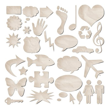 A collection of useful recycled paper stickers Stock Photo - Budget Royalty-Free & Subscription, Code: 400-04419951