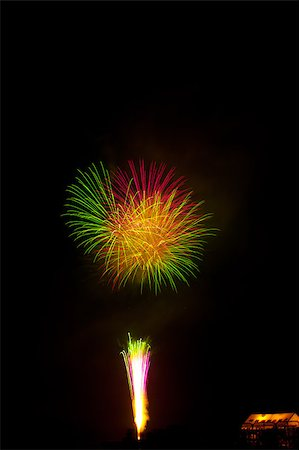 simsearch:400-04863783,k - Beautiful fireworks exploding over a dark night sky in a grand finale display. Very high resolution. Stock Photo - Budget Royalty-Free & Subscription, Code: 400-04419970