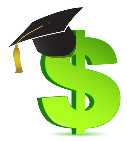 education loan - Education and dollar sign Stock Photo - Budget Royalty-Free & Subscription, Code: 400-04411993