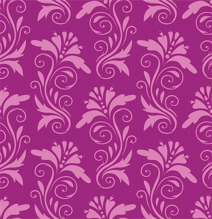 seamless pattern - pink flowers on a purple background Stock Photo - Budget Royalty-Free & Subscription, Code: 400-04424593