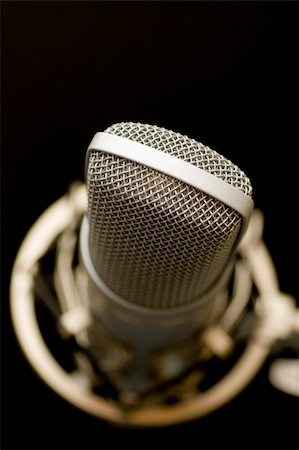 song microphone on black background Stock Photo - Budget Royalty-Free & Subscription, Code: 400-04426367