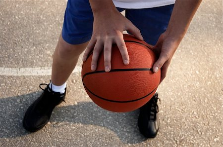 focus on the hands with ball Stock Photo - Budget Royalty-Free & Subscription, Code: 400-04427804