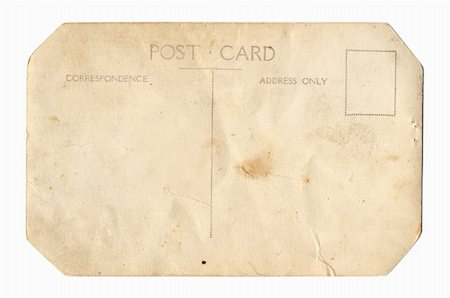 Back of a vintage postcard. Stock Photo - Budget Royalty-Free & Subscription, Code: 400-04429122