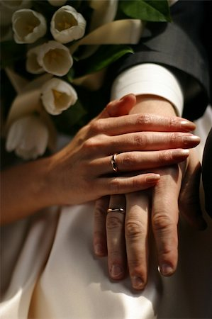 The groom keep the bride for hands Stock Photo - Budget Royalty-Free & Subscription, Code: 400-04429824