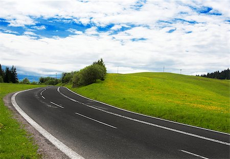 road landscape - Road trip Stock Photo - Budget Royalty-Free & Subscription, Code: 400-04421990