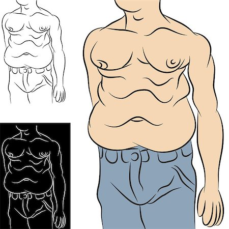 An image of an overweight man with abdominal stomach fat. Stock Photo - Budget Royalty-Free & Subscription, Code: 400-04422185