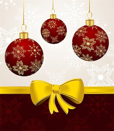 sparks with white background - Illustration background with Christmas balls - vector Stock Photo - Budget Royalty-Free & Subscription, Code: 400-04422393