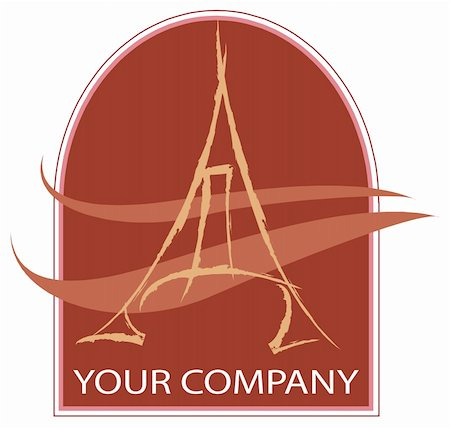 A eiffel tower logo company Stock Photo - Budget Royalty-Free & Subscription, Code: 400-04434640