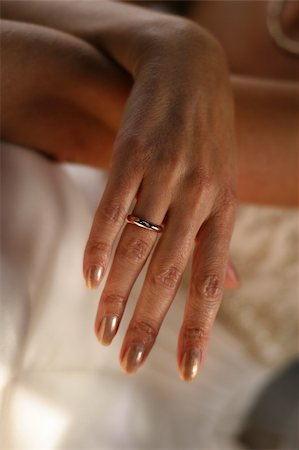 Hand of the bride in a wedding ring Stock Photo - Budget Royalty-Free & Subscription, Code: 400-04430167