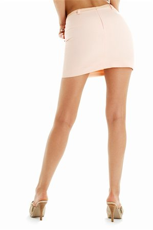 legs and back of lady in pink skirt over white Stock Photo - Budget Royalty-Free & Subscription, Code: 400-04449324