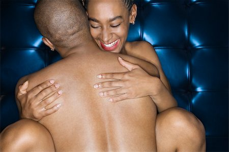 Sexy nude African-American couple embracing. Stock Photo - Budget Royalty-Free & Subscription, Code: 400-04449526