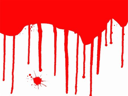 spilling blood texture - Blood Splats and Drips - running down over a white background Stock Photo - Budget Royalty-Free & Subscription, Code: 400-04454583