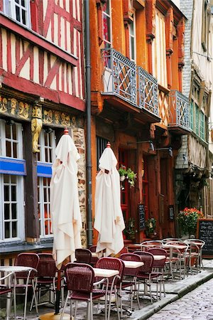 Old medieval half-timbered houses in Rennes, France. Stock Photo - Budget Royalty-Free & Subscription, Code: 400-04455760