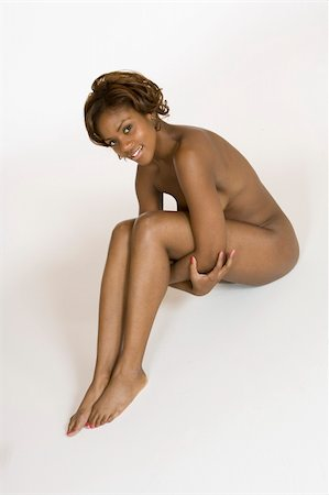 African American female posing nude Stock Photo - Budget Royalty-Free & Subscription, Code: 400-04457059