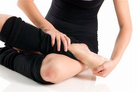 feet gymnast - legs in black knee socks warming up Stock Photo - Budget Royalty-Free & Subscription, Code: 400-04458037
