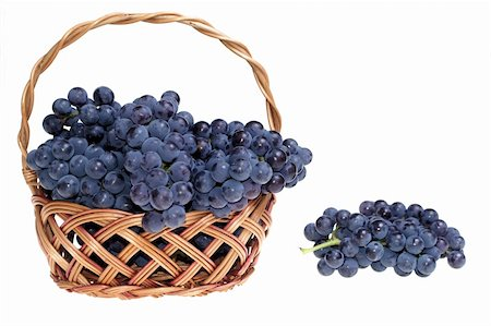 Grape in basket Stock Photo - Budget Royalty-Free & Subscription, Code: 400-04459069