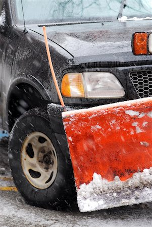 snow plow truck - Snow plow truck on a road during a snowstorm Stock Photo - Budget Royalty-Free & Subscription, Code: 400-04459816