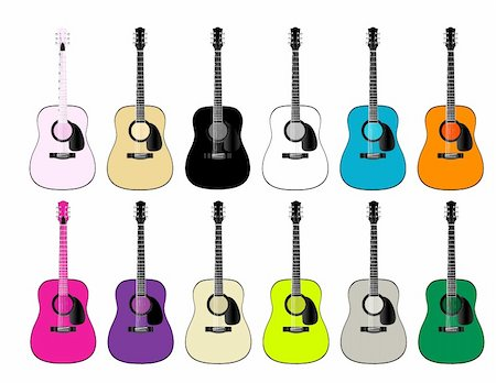 guitars Stock Photo - Budget Royalty-Free & Subscription, Code: 400-04451450