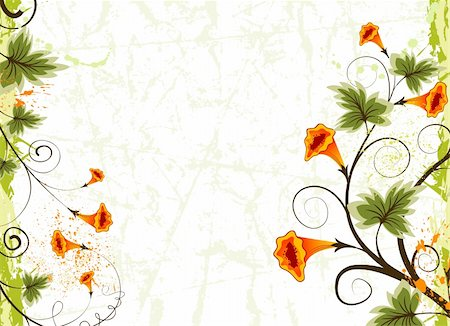 simsearch:400-03995944,k - Grunge paint flower background, element for design, vector illustration Stock Photo - Budget Royalty-Free & Subscription, Code: 400-04453235