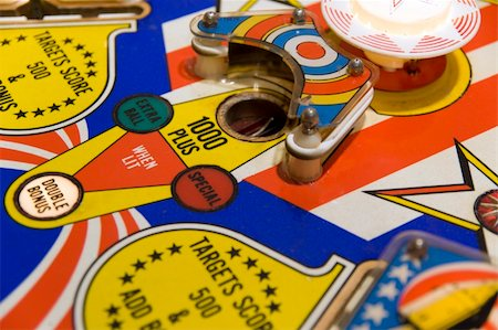 pinball - Close up of a 1976's pinball machine Stock Photo - Budget Royalty-Free & Subscription, Code: 400-04453347
