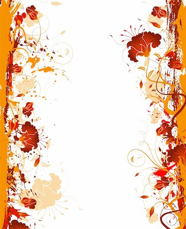 simsearch:400-03995944,k - Grunge paint flower frame, element for design, vector illustration Stock Photo - Budget Royalty-Free & Subscription, Code: 400-04453481