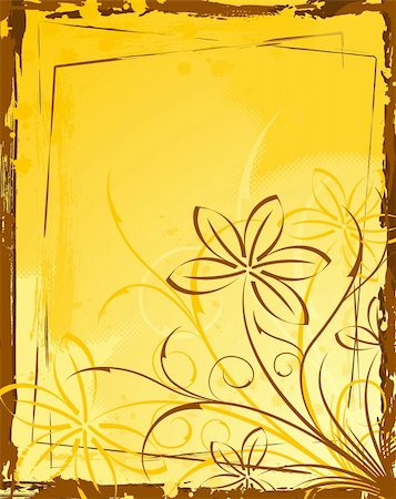 simsearch:400-03995944,k - Grunge paint flower background, element for design, vector illustration Stock Photo - Budget Royalty-Free & Subscription, Code: 400-04453535