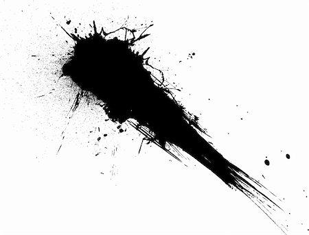 shooting ink/paint splat isolated from the white background ideal to place text over Stock Photo - Budget Royalty-Free & Subscription, Code: 400-04453580