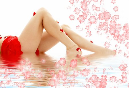 simsearch:400-04344039,k - long legs of lady relaxing in water Stock Photo - Budget Royalty-Free & Subscription, Code: 400-04465555