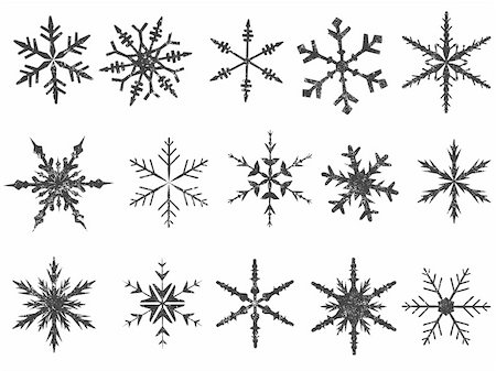 pokerman (artist) - Frosted Snowflake Elements 1 of 4 (Snowflakes are grouped for easy coloring, and use with other vectors) Stock Photo - Budget Royalty-Free & Subscription, Code: 400-04466945