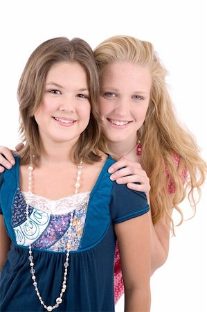 Two teenage girls who are best friends Stock Photo - Budget Royalty-Free & Subscription, Code: 400-04475615