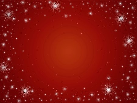 red colour background with white fireworks - white stars over red background with feather center Stock Photo - Budget Royalty-Free & Subscription, Code: 400-04477750