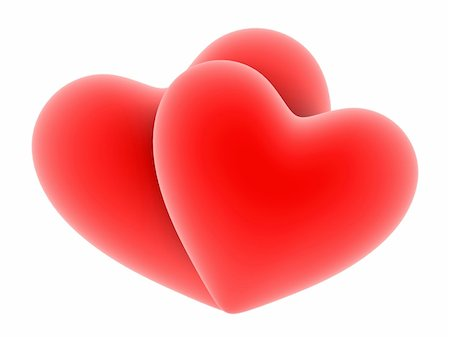 3d rendered illustration of a big red hearts Stock Photo - Budget Royalty-Free & Subscription, Code: 400-04479742